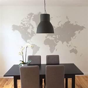 Decoration Murale Monde : diy 6 une mappemonde murale pierre papier ciseaux ~ Teatrodelosmanantiales.com Idées de Décoration