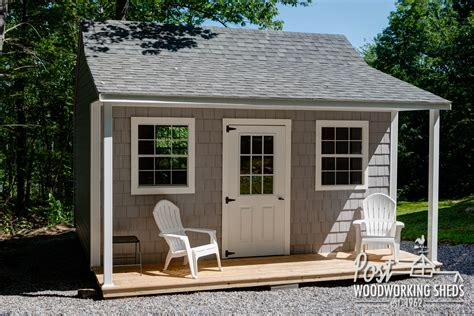 vinyl shake shed with farmers porch garden shed ideas