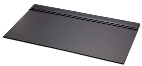 padded desk p1021 black leather 34in x 20in top rail desk pad