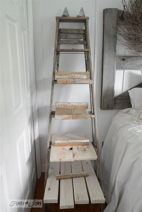 upcycled stepladder side table  shelves
