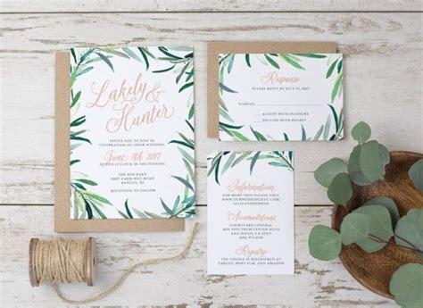 wedding invitation template printable eucalyptus