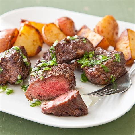 steak and potatoes mexican steak tips with crispy potatoes