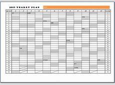 2015년도 연간계획표 양식
