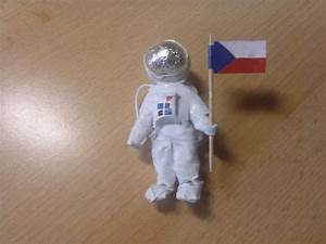 Making an astronaut using paper and tape