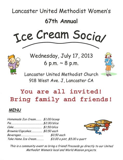 social ideas ice cream social ideas for church party invitations ideas