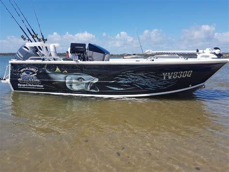 Fishing Boat Graphics Wrap by Boat Wraps Bonza Graphics Australia