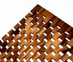 caillebotis 80x50 selection bois tapis de bain bain tapis With tapis de bain en bois