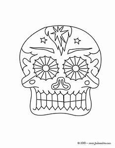 Tete De Mort Mexicaine Dessin : coloriages t te de mort festive colorier ~ Melissatoandfro.com Idées de Décoration