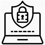 Security Icon Computer Cybersecurity Protection Cyber Network