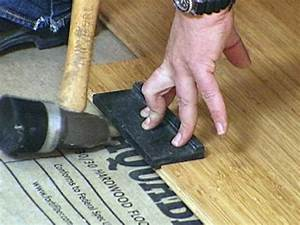 how to install bamboo flooring hgtv With how to install nail down bamboo flooring