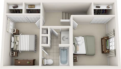 One Bedroom Apartments In Murfreesboro Tn by Two Bedroom Floor Plans Charleston Hall Apartments