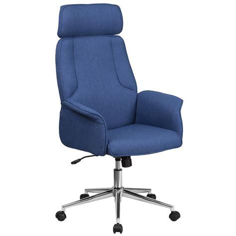 swivel fabric chairs flash furniture high back blue fabric executive swivel 2637