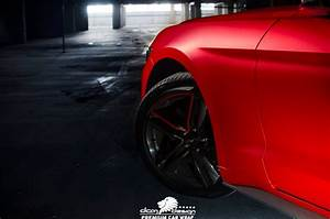 Ford Mustang Inferno Red Chrome Matte - DCM Design