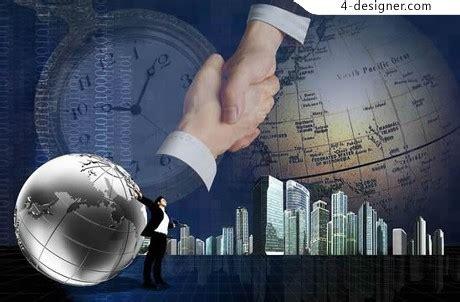 designer regional cooperation  business psd material