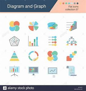 Diagram And Graph Icons  Flat Design Collection 57  For