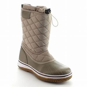 DAVICCINO AA42 Womens Lace Up Waterproof Quilted Mid Calf ...