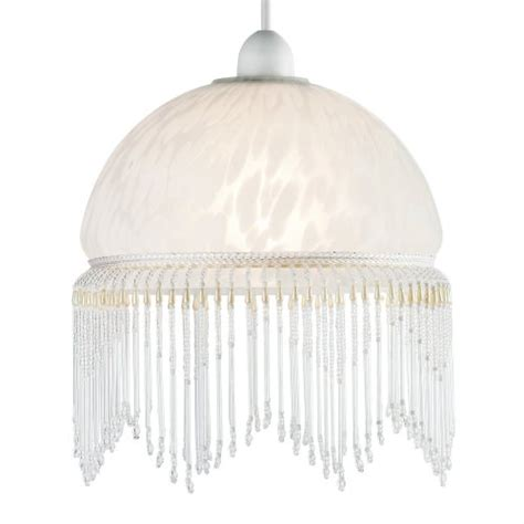 modern shabby chic white glass ceiling pendant light lshade