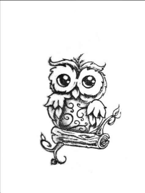 Cute tattoo idea I LOVE YOU LONG TIME BABY OWL   tattoos