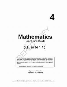 Teacher U0026 39 S Guide In Mathematics 4