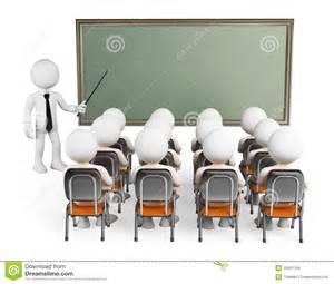 Classroom 3D People Clip Art