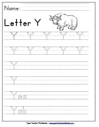 Letter Y Worksheets  Recognize, Trace, & Print