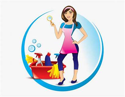 Cleaning Clip Lady Services Fussy Clipart Clipartkey