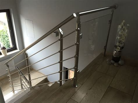 treppengeländer glas innen baitinger treppen und balkongel 228 nder