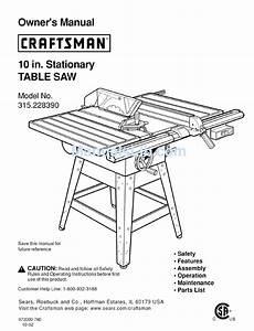 Craftsman 315 22839 Owner U0026 39 S Manual Pdf Download