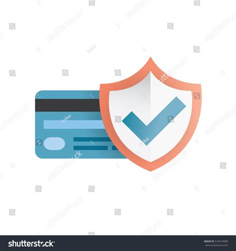 credit card shield purchase protection concept stock