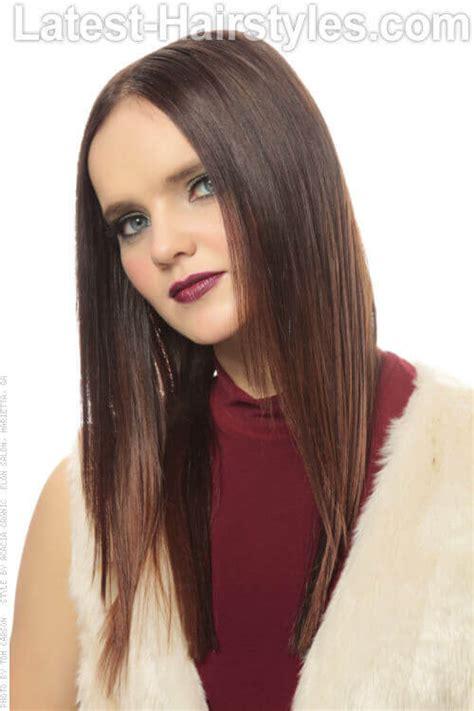 sleek straight hairstyle  fine hair biosilk hair care