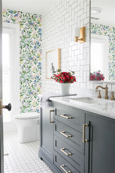 colorful oasis bathroom makeover lushes curtains blog