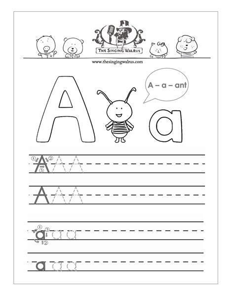 kindergarten worksheets   singing walrus