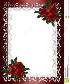 Red Rose Wedding Invitation Borders Free
