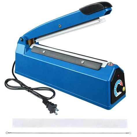 heat sealing impulse manual sealer machine poly tubing plastic bag teflon  ebay