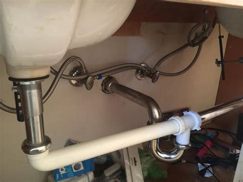 How To Connect Drain Pipes For A Dual Sink Bathroom Vanity