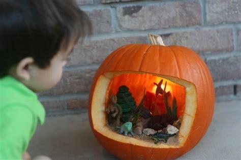 pumpkin diorama dinosaurs holidays halloween