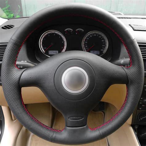 volant pour siege auto noir artificielle en cuir couverture de volant de voiture