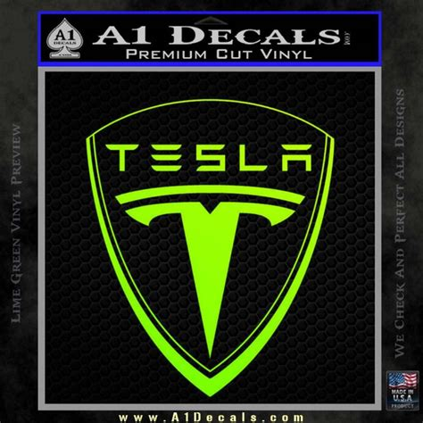 tesla motors emblem decal sticker  decals