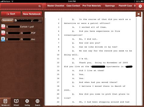 trial notebook template trial notebook app review maclitigator