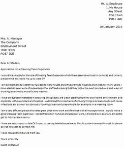cleaning team leader cover letter example icoverorguk With cover letter for house cleaning job