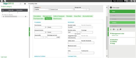 Set Ups And Process Of Mrp /mps In Sage X3 V7
