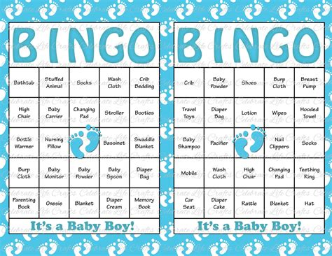 baby shower bingo cards 30 baby shower bingo cards printable by