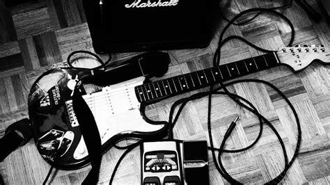 Entertainment music guitars black white amp strings tech ...