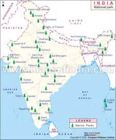 India National Parks Map