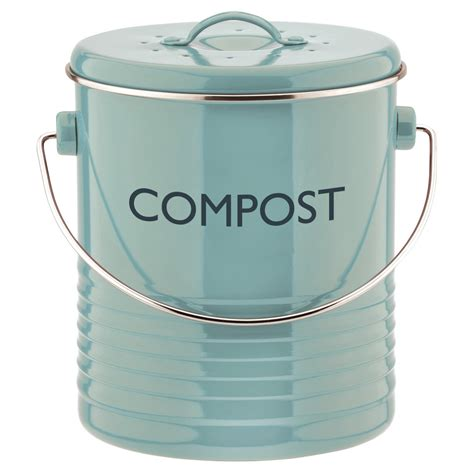 typhoon vintage summer house blue kitchen compost bin