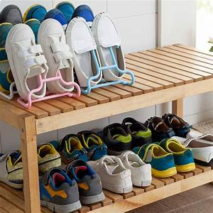 2pcs, High, Quality, Multi, Colored, Plastic, Shoes, Hanging, Storage, Shelf, Drying, Rack, Shoe, Rack, Stand