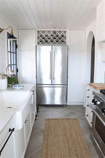 Kitchen Appliances Chose Counter Theinspiredroom Modern Refrigerator