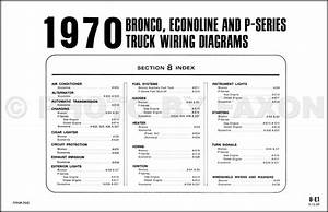 1970 Ford Bronco And Econoline Wiring Diagrams E100 E200 E300 Van      With Images
