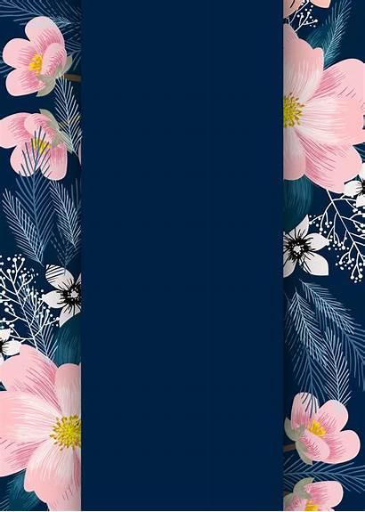 Template Flowers Invitations Invitation Flower Templates Floral