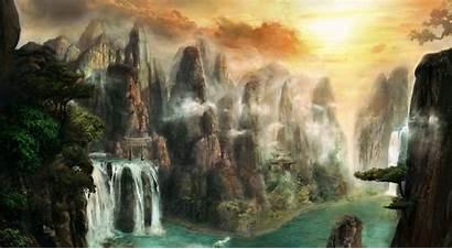 Fantasy Landscape Wallpapers Desktop Backgrounds Cave Widescreen
